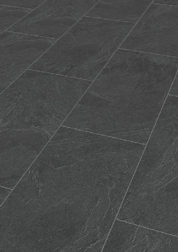 MEISTER LB85 Tile Effect Slate Anthracite Laminate Flooring